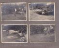 Huit (8) Photos Pas Cartes Postales- Pique Nique Bois Bon Dieu-Thuin -1938. Femme Vieille Voiture