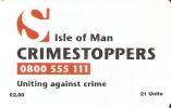MAN-115 TARJETA DE LA ISLA DE MAN DE CRIMESTOPPERS - Isla De Man