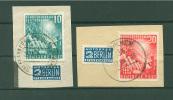 111-112 Auf Briefstücken !!  Rundstempel ! (Del-2676) - Gebraucht