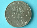 1975 - 10 ZLOTY / Y# 74 ( Uncleaned - For Grade, Please See Photo ) ! - Polen