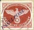 Germany Michel #10ab Used Inselpost On Paper, Expertized Twice (38 Degrees) - Occupation 1938-45