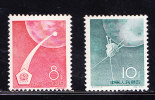 RT)1960,CHINA,SET(2),RUSS I AN SPACE FLIGHTS,MNH,SCN 502-503,PERF.11 ½- - Nuovi