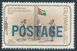 "GUYANA 1982 ""POSTAGE"" OVERPRINT ON 3RD CARRIBEAN SCOUTS JAMBOREE SC# 453 VF MNH SCARCE - Guyana (1966-...)"