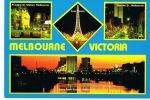 MELBOURNE -AUSTRALIE - VICTORIA - Cpm Multivues -  Recto Verso  Couleurs -écrite - - Melbourne