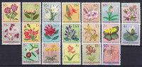 Ruanda-Urundi 1953 Mi. 133-151 Einheimische Flora Flowers Blumen Complete Set MNH** - Ruanda-Urundi