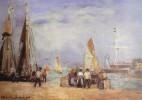 Thematiques Peintres Représentation De Tableau Honfleur L'avant Port Maurice Courant 1847 1924 - Peintures & Tableaux