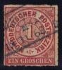 North German Confederation #4 Numeral, Used (0.90) - North German Conf.