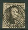 Belgique - No 6 Oblitéré P130, Très Propre, 4 Marges, Voir Scan - 1851-1857 Medaillen (6/8)