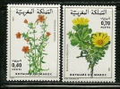 "Morocco       ""Flowers""        Set     SC# 484-85  MNH** - Morocco (1956-...)"
