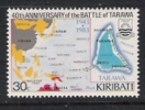 Kiribati.Map Of Islands. Battle Of Tarawa. WWII - Militaria