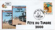 FRANCE 3304 FDC Fête Du Timbre PARIS Tintin Kuifje HERGE Couvertures L'alph-Art - Comics