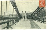 Grenoble.le Pont Suspendu Sur Le Drac. - Grenoble