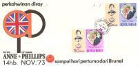 56179)lettera F.D.C. Del Brunei Con Due Valori Più Annullo 14/10/1973 - Brunei (1984-...)