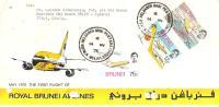 56183)lettera F.D.C. Del Brunei Con Tre Valori Più Annullo 14/5/1975 - Brunei (1984-...)