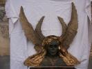 - TÊTE DE GUERRIER ANTIQUE . MASQUE EN CARTON BOUILLI DE SYLVAIN GEORGES . - Sculptures