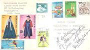 56193)lettera Koreana Con Otto Valori Più Annullo - Corea (...-1945)