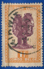 1948-51  Congo Belge - Art Indigène - Gobelet Anthropomorphe Jumelé De La Tribu Ba-Shilélé - 1f00 Jaune Orange Et Lilas - Congo Belge
