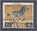 KENYA 1966 ANIMALS - ZEBRA 40c. Black And Brown FU - Kenya (1963-...)