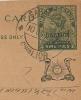 GWALIOR 1937 9p POSTCARD, H & G 18, USED SABALGARH TO SAMBHAR LAKE, WITH SABALGARH-GWALIOR CDS. - Gwalior