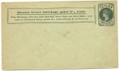Ceylon 2 Cents District Letter Unused - Ceylon (...-1947)