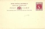 Ceylon 6 Cents Postal Stationary Card Unused - Ceylon (...-1947)