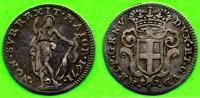 [DO] GENOVA - Dogi Biennali  5 SOLDI 1671 (Argento / Argent) - Monnaies Régionales