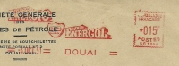 France Firm Cover Societe Generale Des Huiles De Petrole With Meter BP ENERGOL 4-10-1951 - Aardolie