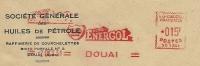 France Firm Cover Societe Generale Des Huiles De Petrole With Meter BP ENERGOL 2-10-1951 - Marcofilie (Brieven)