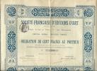 SOCIETE FRANCAISE EDITION D'ART - Azioni & Titoli