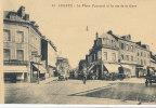 CCS  607 /  C P A  -LISIEUX  (14)   LA PLACE FOURNET ET LA RUE DE LA GARE - Lisieux
