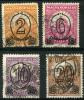 Hongrie (1930) N 432A + 435A + 437A + 438B (o) - Hongrie