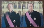 OCB Nr 3202 + 3203  Uit Blok 105** Samen Aan Elkaar-   Roi Baudouin + Albert II/ Koning Boudewijn + Albert 2 - Unused Stamps