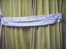 Decor De Cheminee -tres Enveloppant-oiseaux-fleurs-long 156cm +retour 24cm Au Point De Tige - Vintage Clothes & Linen