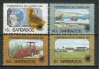 Barbados 1983 Yvert 572/75 MNH VF - Barbados (1966-...)
