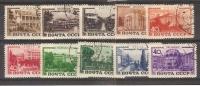 FIXE // URSS/ 1949 / Complet 1356/1365 Oblitérés : Stations Climatiques Et Sanatoriums - 1923-1991 URSS