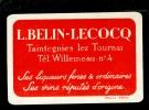 Speelkaart  ( 518 ) Wijnen Wijn Likeuren Likeur Vins Vin Liqueur Distillerie Stokerij :  BELIN  LECOCQ Taintegnies Lez T - Speelkaarten
