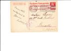 A0033    CP   POUR BRUXELLES 1917   CENSURE - Interi Postali