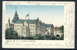 Farb-Litho: Gera, Schloss Osterstein (mit Vergoldeten Fenstern) - Gera
