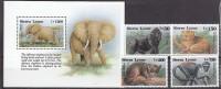 PGL S1686 - SIERRA LEONE Yv N°1715/18 + BF ** ANIMAUX ANIMALS - Sierra Leone (1961-...)