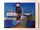 E. MAIOLI--PONTE NAVE 1 1985--OLIO SU TELA MM 500 X 600--EDIZIONI SEVERGNINISTAMPERIADARTE CERNUSCO S/N MI--FG--N - Pittura & Quadri