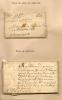 Histoire De La Poste,2 Lettres Taxe En Sols Et Deniers,de Carcassonne 1675,et Taxe En Patards 1635 - Marcophilie (Lettres)