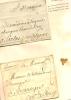 Histoire De La Poste,2 Enveloppes Avec Grands Personnages Dont Cardinal De Fleury Qui Prêtent Leur Nom - Marcophilie (Lettres)