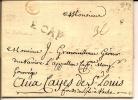 LAC De Bordeaux ,de La Petite Poste 1772 Marque De Transit Du Cap - Marcophilie (Lettres)