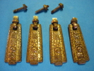 4 ANCIENNES POIGNEES De TIROIRS En BRONZE Début 20ème ( Voir  3 Photos Et Descriptif ) - Bronces