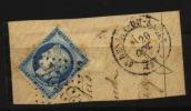 France, N° 22  Oblitération GROS CHIFFRES  N° 3524  // ST BENOIT DU SAULT Au Quart De Cote - 1853-1860 Napoleon III
