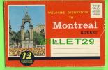 MONTREAL, QUEBEC - POCHETTE SOUVENIR FOLDER  - 12 COLOR VIEWS - - Montreal