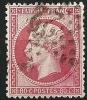 """YT 24 """" Napoléon III  80c. Rose """" 1862 étoile Numérotée 22 - 1862 Napoléon III"""