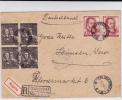 POLOGNE - 1954 - ENVELOPPE RECOMMANDEE EXPRES De ZIELONA GORA Pour HAMELN (GERMANY) - 1944-.... Republik