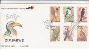 Zimbabwe -1992 Birds FDC - Zimbabwe (1980-...)
