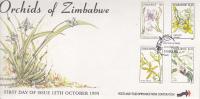 Zimbabwe -1993 Orchids  FDC - Zimbabwe (1980-...)